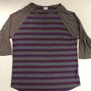Lularoe Women's 2XL Long 3/4 Sleeve Striped